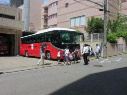 送迎バスへ乗車