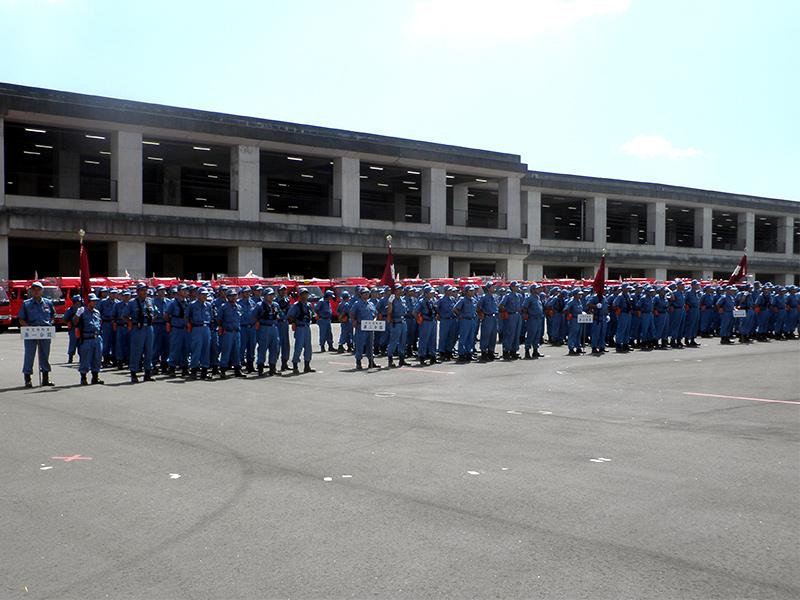 港北消防団夏季訓練会