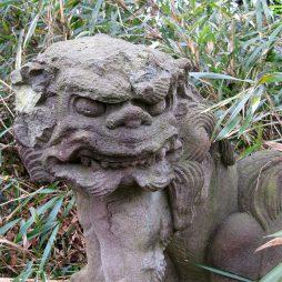 山王宮跡に現存する狛犬