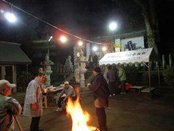 除夜祭(参拝者に暖を)