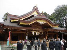 亀ヶ岡八幡宮・拝殿
