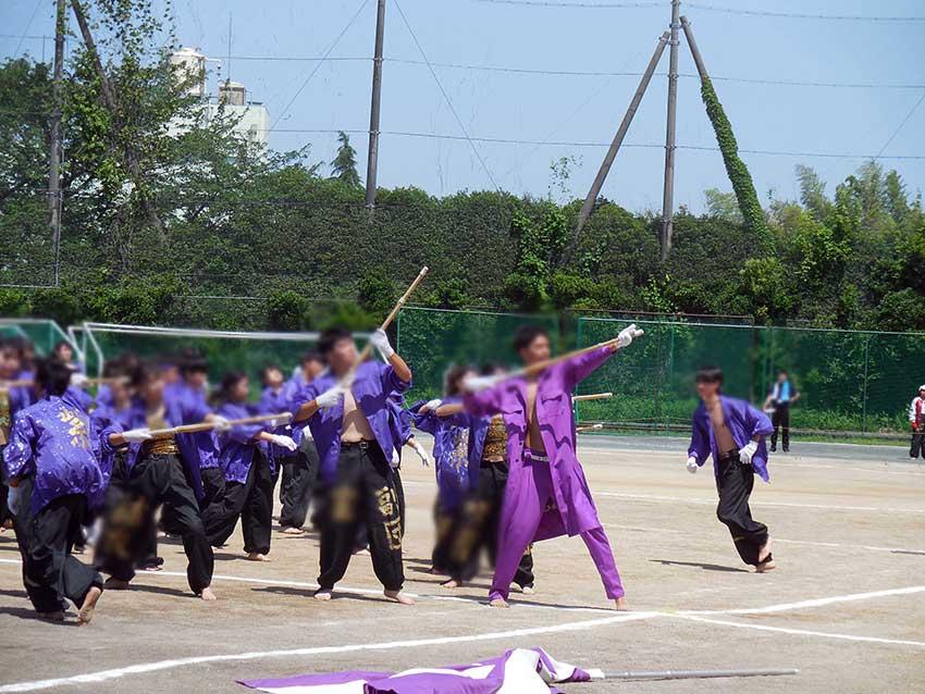 応援パフォーマンス:紫