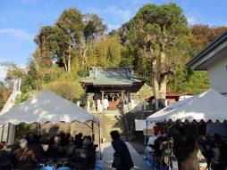 頒布式会場の箕輪諏訪神社